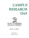 Campus Research Day Program April 11, 2019