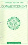 Southern College Orlando Center Commencement Program April 28, 1988 by Southern College