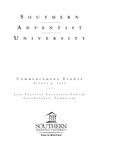 Southern Adventist University Commencement Program by Southern Adventist University