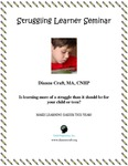 Struggling Learner Seminar Lesson Plans by Dianne Craft