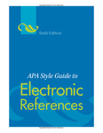 APA Style Guide to Electronic Citations by American Psychological Association