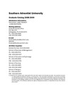 Southern Adventist University Graduate Catalog 2008-2009