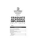 Southern Adventist University Graduate Handbook & Planner 2017-2018