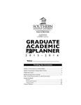 Southern Adventist University Graduate Handbook & Planner 2015-2016