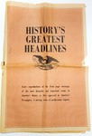 History's Greatest Headlines by Advertiser's Service Co.