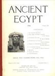 Ancient Egypt 1916 Part 4 by Flinders Petrie, F.W. Read, W. M. F. Petrie, Joseph Offord, Ernest Mackay, and Hugh Stannus