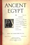 Ancient Egypt 1920 Part 4 by Flinders Petrie, Cyril Bunt, W. M. Flinders Petrie, W. R. Lethaby, R. Engelbach, and E. Mackay