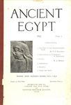 Ancient Egypt 1922 Part 1 by Flinders Petrie, F. F. Bruijning, R. Engelbach, and M.A. Murray