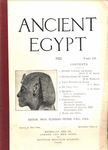 Ancient Egypt 1922 Part 3 by Flinders Petrie, A. H. Sayce, H. E. Winlock, A. C. Mace, and L. B. Ellis