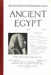 Ancient Egypt 1923 Part 1 by Flinders Petrie, W. M. F. Petrie, Ernest Thomas, and G. P. G. Sobhy