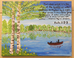 Psalm 1:2-3 Painting