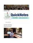 October 2014 QuickNotes