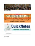 November 2014 QuickNotes