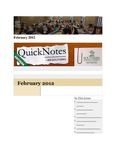 February 2012 QuickNotes