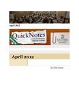April 2012 QuickNotes