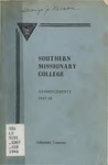 Southern Missionary College Announcements 1947-1948
