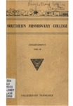 Southern Missionary College Announcements 1949-1950