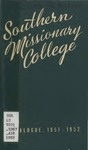Southern Missionary College Catalogue 1951-1952 by Southern Missionary College