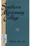 Southern Missionary College Catalog 1952-1953