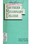 Southern Missionary College Bulletin 1958-1959 by Southern Missionary College