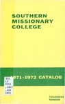Southern Missionary College Catalog 1971-1972 by Southern Missionary College