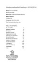 Southern Adventist University Undergraduate Catalog 2013-2014