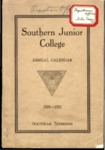 Southern Junior College Annual Calendar 1920-1921 by Southern Junior College