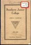 Southern Junior College Annual Calendar 1920-1921