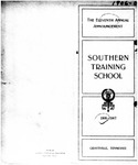 The Eleventh Annual Announcement of the Southern Training School 1906-1907