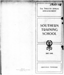 The Twelfth Annual Announcement of the Southern Training School 1907-1908