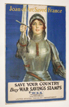 Joan of Arc Saved France-- Women of America Save Your Country Buy War Savings Stamps by William Haskell Coffin and United States Treasury Department